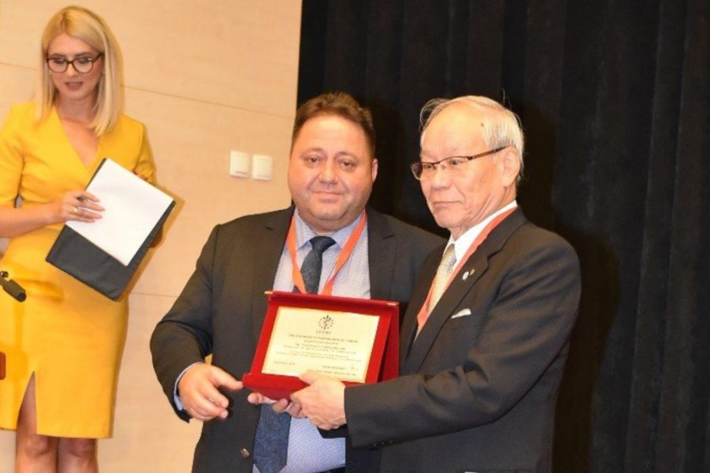 Dr. Yoshitake Yokokura – President of the World Medical Association and Assoc. Prof. Andrey Kehayov – SEEMF President